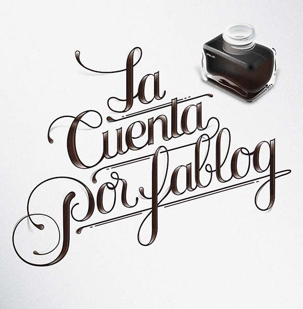 LA CUENTA POR FABLOG Cuisine Blog Header Lettering / Illustration.