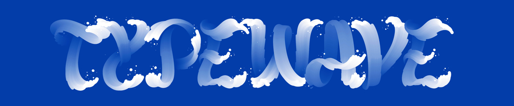 TYPEWAVE Typeface inspired on the ocean waves Lettering / Illustration