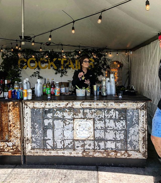Our Antique Tin bars served up a few fine cocktails in the Platinum Lounge this year at the 2018 Voodoo Experience.  #cocktails