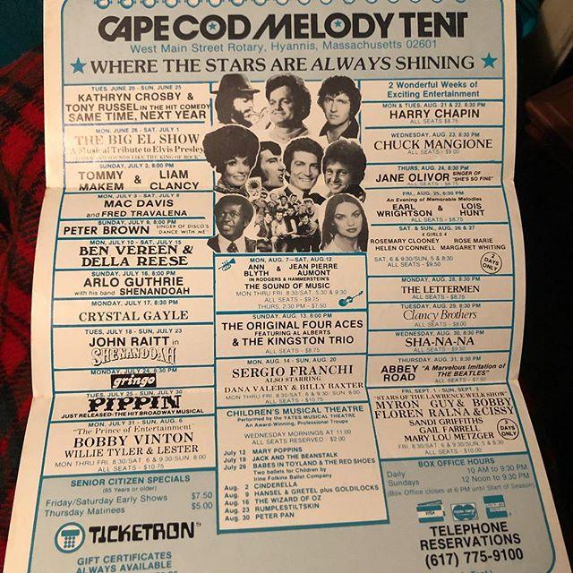 Cape Cod Melody Tent! 1978!