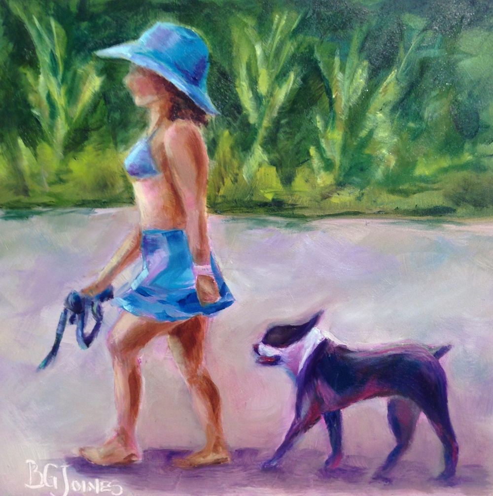 """Puppy Love""  6x6 Original Oil Painting on Museum Quality Panel      SOLD"