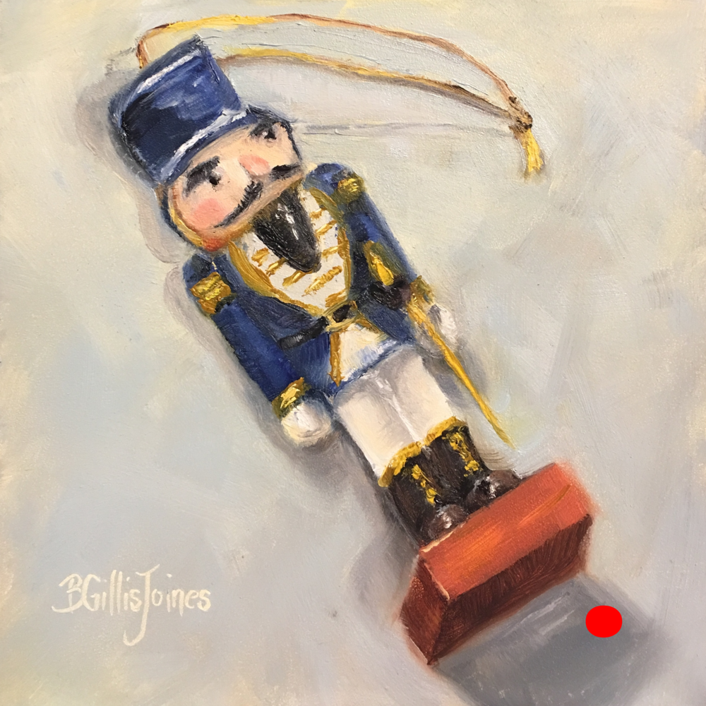 nutcracker in blue