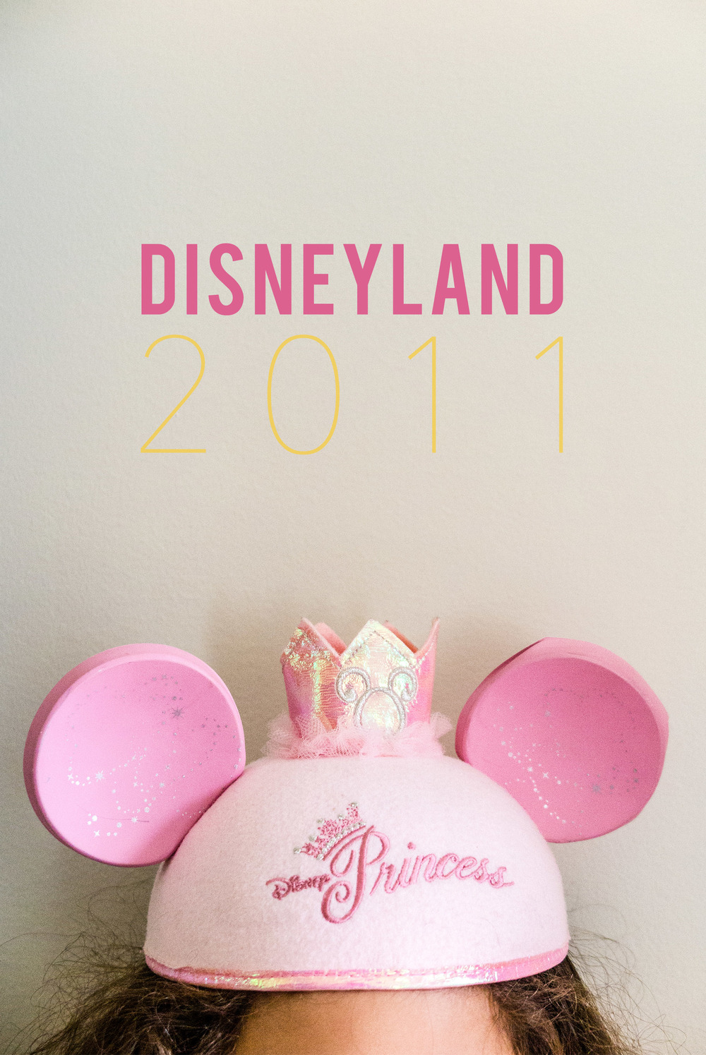 First trip to Disneyland photobook cover design