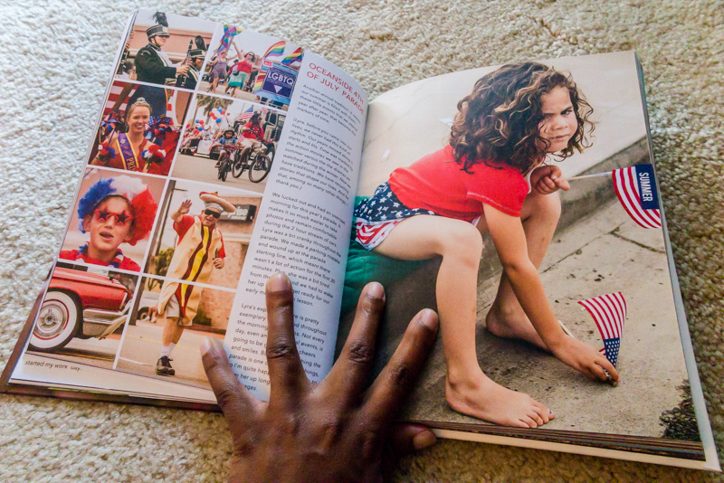 Fourth of July photobook spread