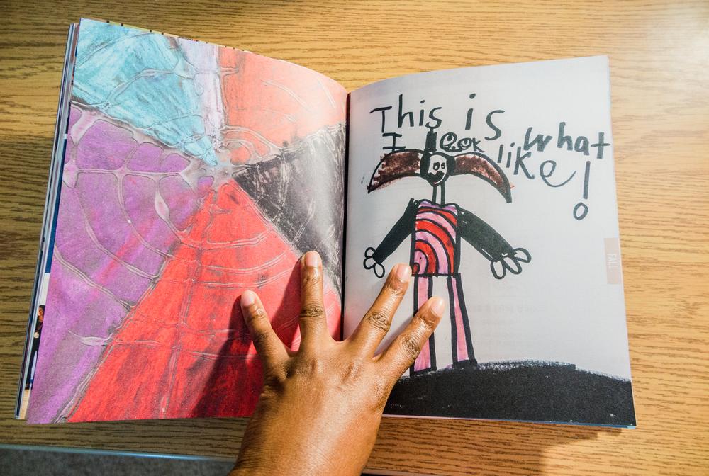 8x10 Blurb photo book | annual family album incorporating childen's artwork | yolandamadethis.com