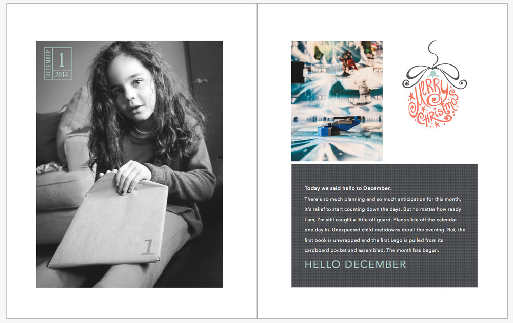 December Daily 2014 photo book | | yolandamadethis.com
