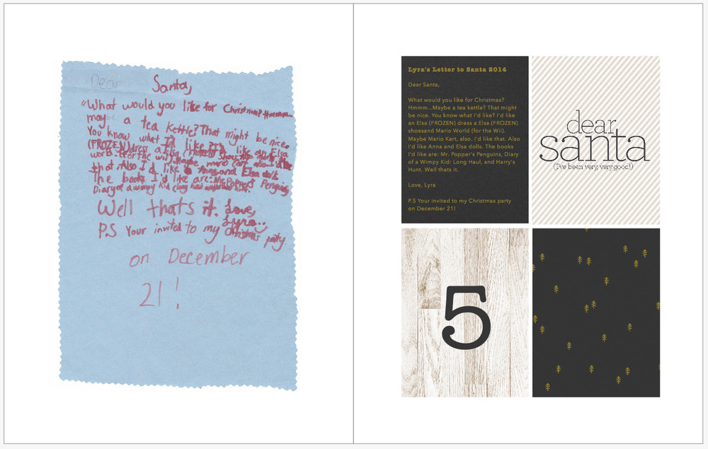 December Daily 2014 photo book | letter to Santa | yolandamadethis.com