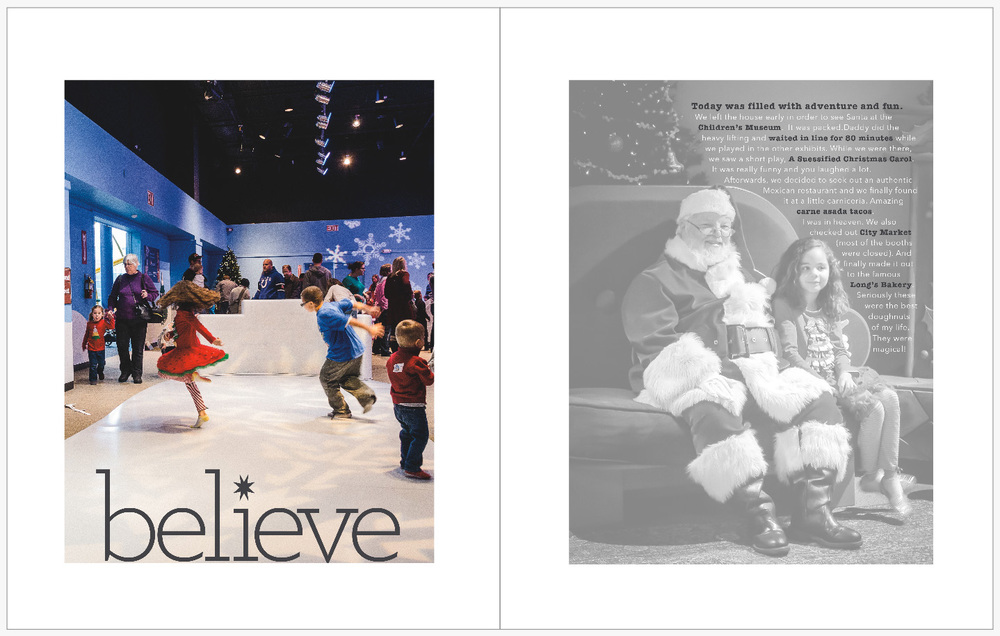 December Daily 2014 photo book | Jolly Days at The Children's Museum of Indianapolis | yolandamadethis.com
