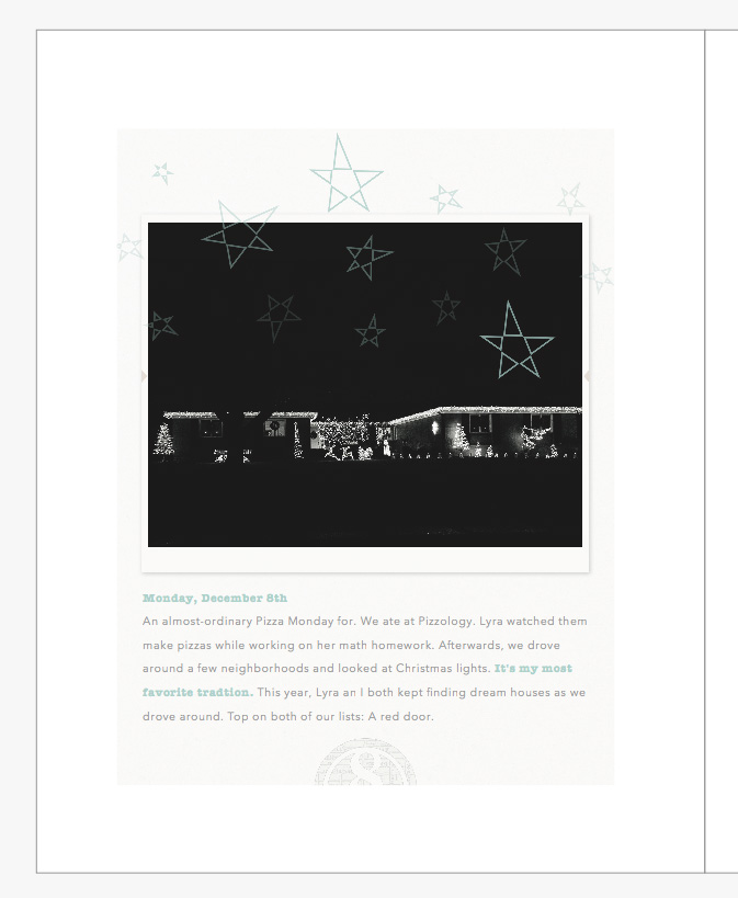 December Daily 2014 photo book | christmas lights | yolandamadethis.com