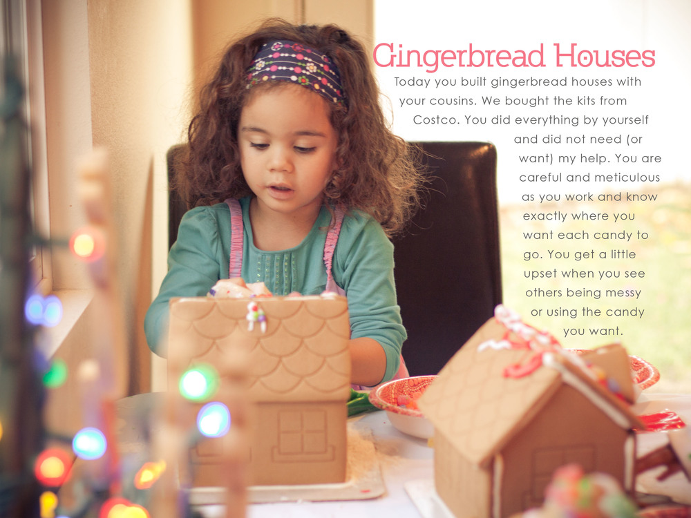 December Daily 2011 photo book | gingerbread houses | yolandamadethis.com