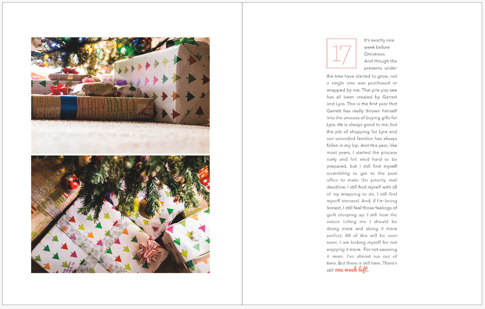 December Daily 2014 photo book | presents wrapped | yolandamadethis.com
