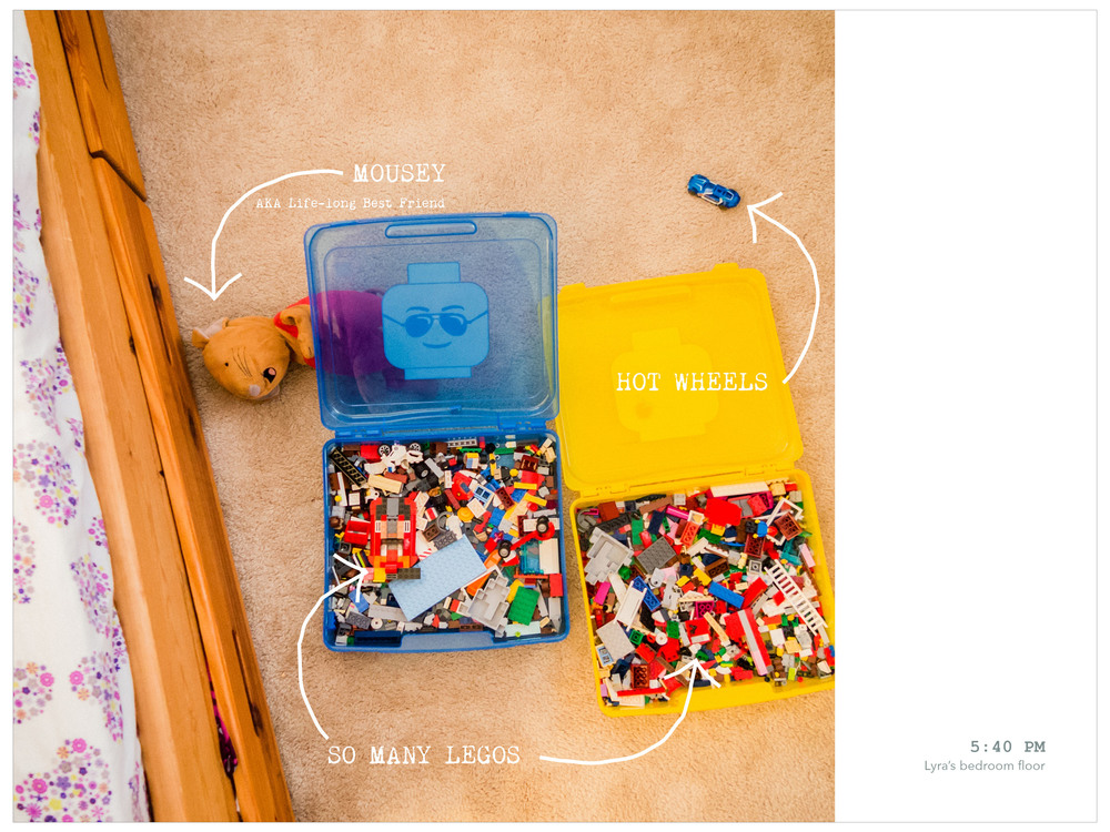 Week in the Life 2014-Monday: PM | yolandamadethis.com One of my favorite shots of the week. A portrait of the toys my daughter loves, exactly as I found them when I came into her rom after she finished playing with her friend.