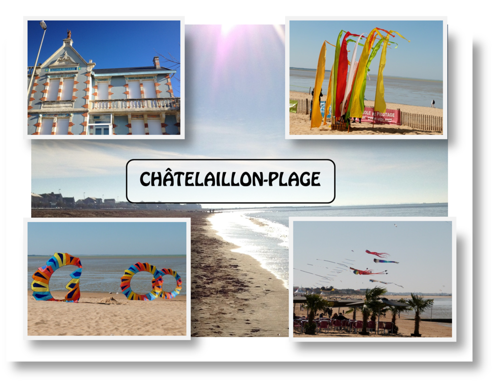 Chatelaillon Plage beach seaside holiday postcard