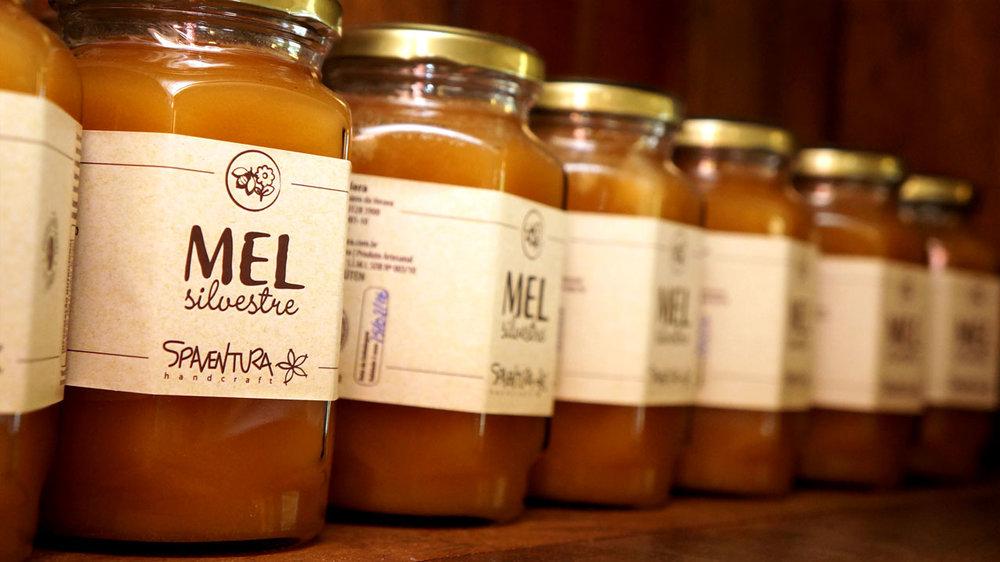Potes de mel orgânico