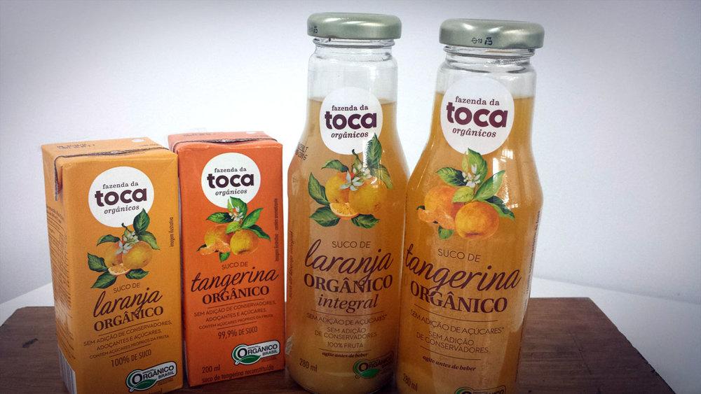Sucos orgânicos 100% de fruta e sem adição de açúcares ou conservantes