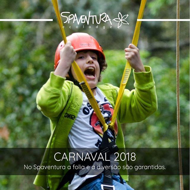 O Carnaval está chegando, pensando nisso temos uma proposta diferente para você! Um feriado de carnaval repleto de atividades ao ar livre e com muita adrenalina, que tal? Porém se você não é tão fã assim de esportes radicais e está querendo apenas relaxar, não se preocupe, temos ótimas acomodações e mais de 295 hectares de muita sombra e água fresca. Acesse nosso site para conferir as nossas opções especiais para o Carnaval 2018. Esperamos por você! #SPaventura #Ecolodge #TurismoSustentavel #Ecoturismo #Sustentabilidade #MataAtlântica #TurismoEcológico #esportedeaventura #TurismodeAventura #turismoecológico #hoteldeaventura #vidasaudável #Reflorestamento #Carnaval #Folia2018
