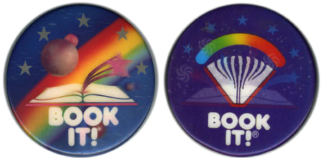 Book It! pins from my era. http://designrelated.tv/inspiration/bookit.jpg