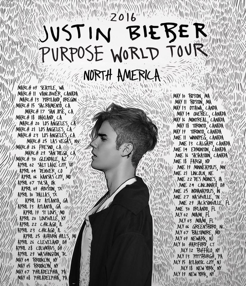 Justin Bieber Tour Dates June