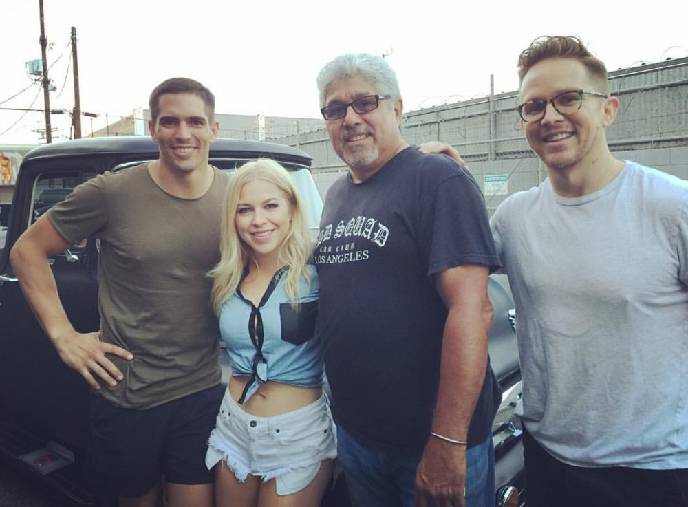 Jordan Wiseley, Maggie, Michael (and his awesome vintage Ford truck), director Trent Atkinson
