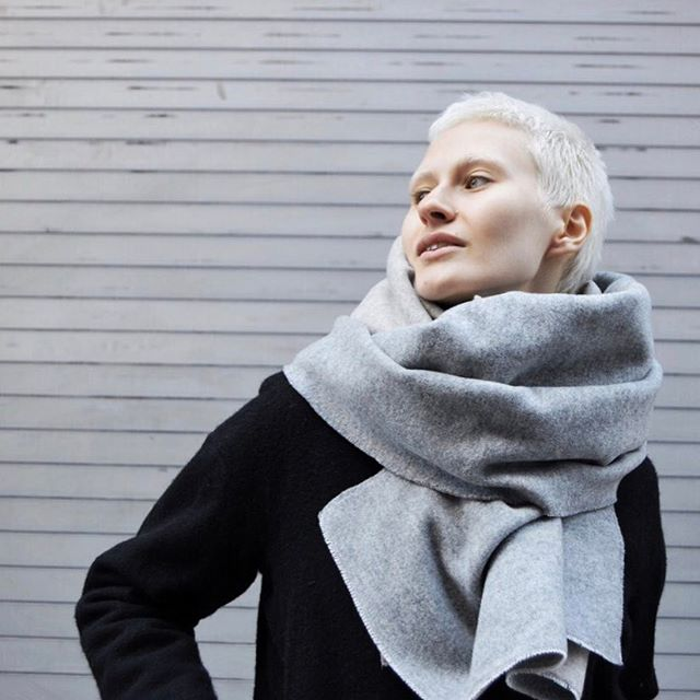 ✨Last one left! Shop our sale on @spring [Scarf: Double-Faced Wool] #avantur #MadeInNYC