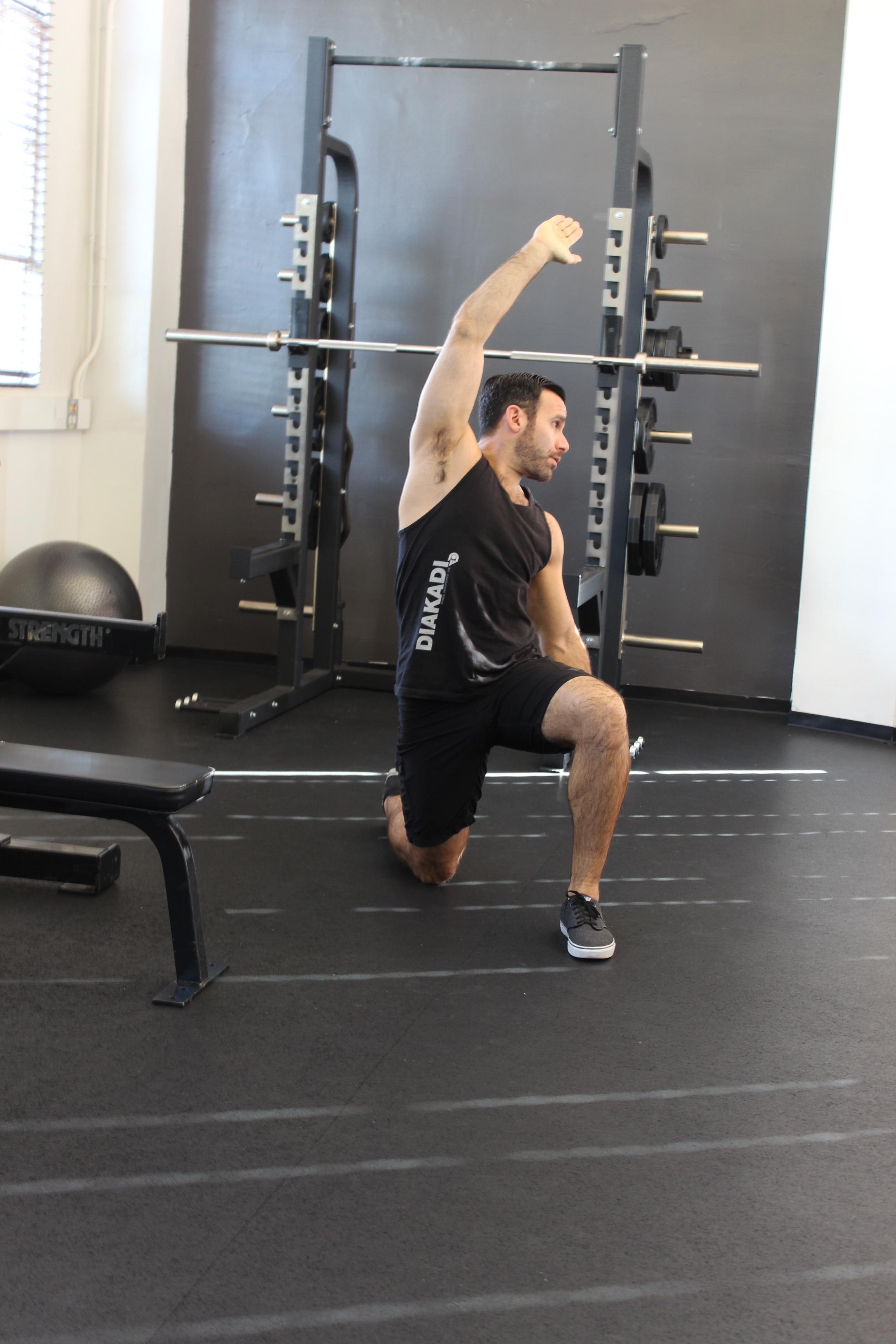 12 Days Stretch Blog Kneel hip flexor