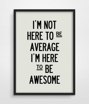 Beyond average