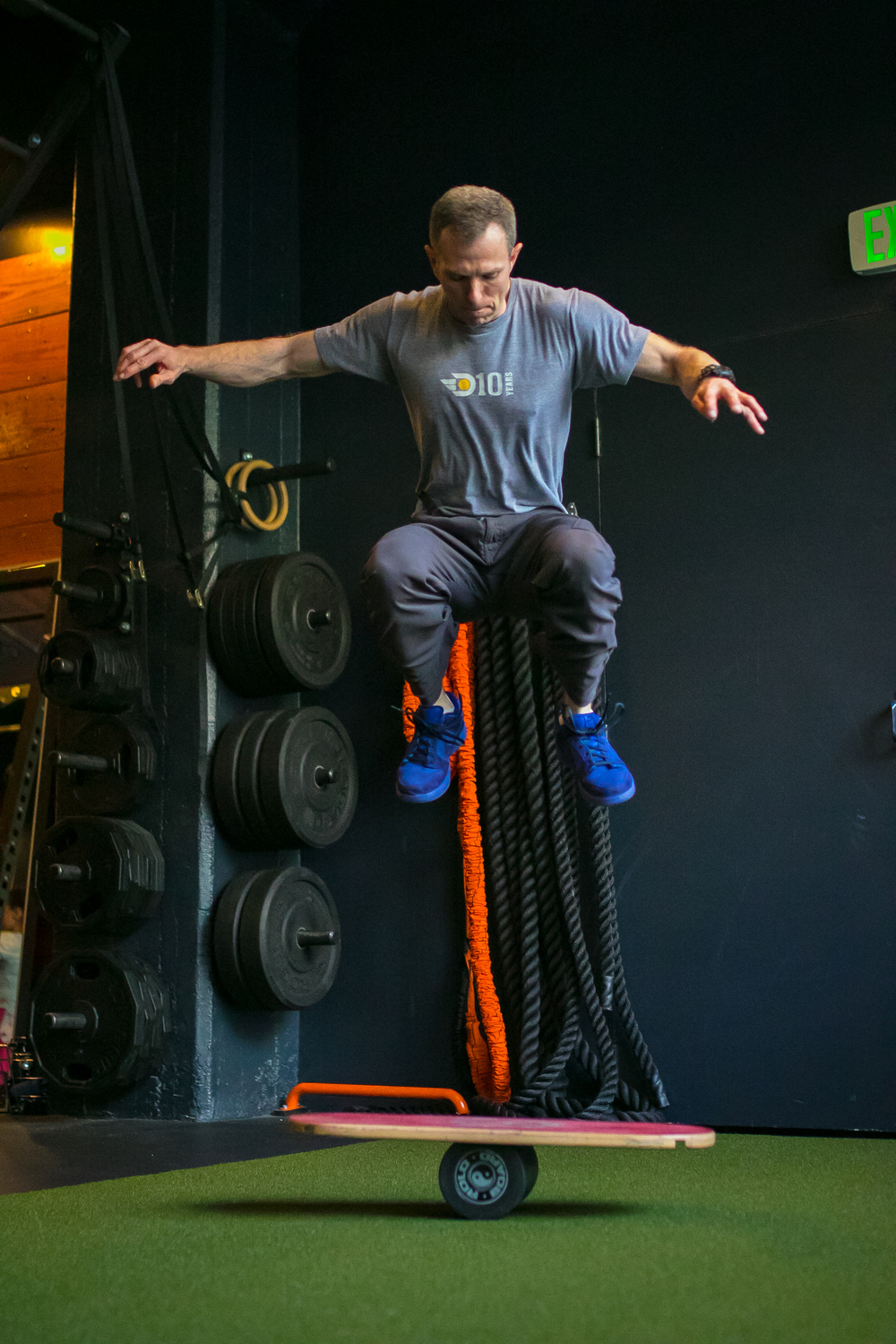 DIAKADI Trainer Sean O'Brien, master of acrobatics and previous American Ninja Warrior competitor.