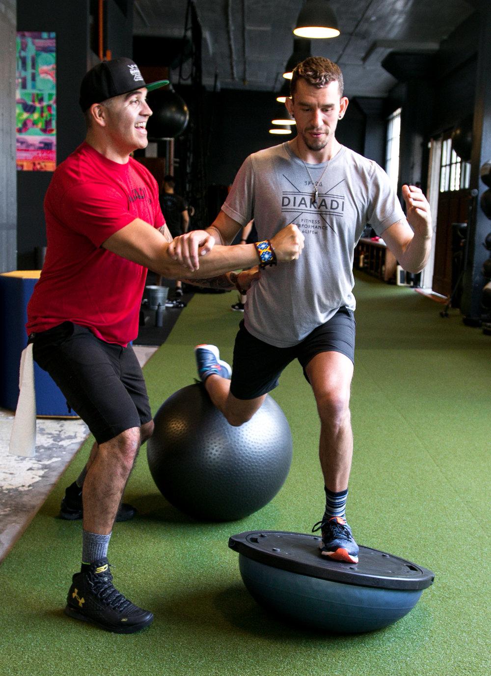 DIAKADI Trainer Tommy Armenta coaching bosu stability.jpg