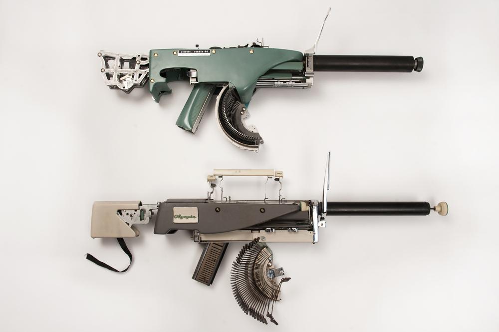 Eric Nado | Sculpture - Gun from Antique Type Writer | 2015 | Inquire Price