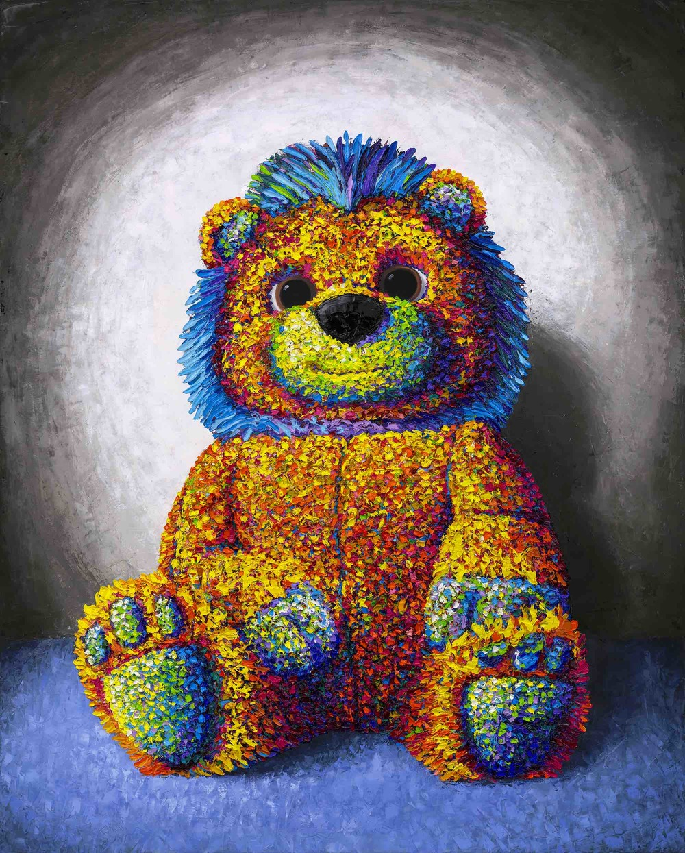 colorful-textured-lion-stuffed-animal-painting-brent-estabrook.jpg