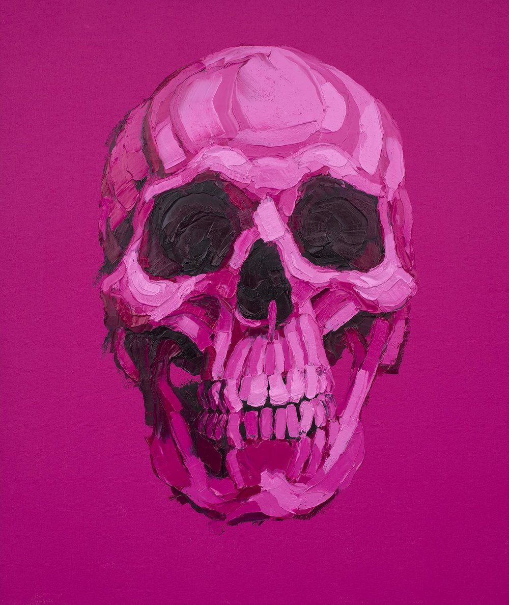 """Pink Pink Skull""     Brent Estabrook     Oil on  canvas 