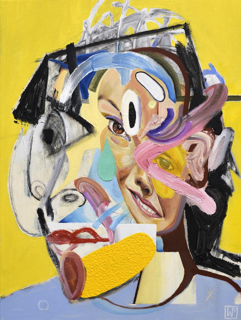 "'Untitled'   Oil on canvas  (24"" x 18"" ) (60.96 x 45.72 cm)   2018     Inquire Price"