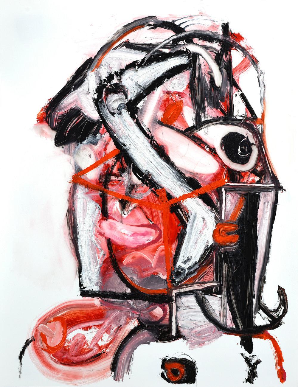 """'Untitled'   Oil on Yupo paper  (20"""" x 26"""" ) ( 50.80 x 66.04cm)   2018     Inquire Price"""