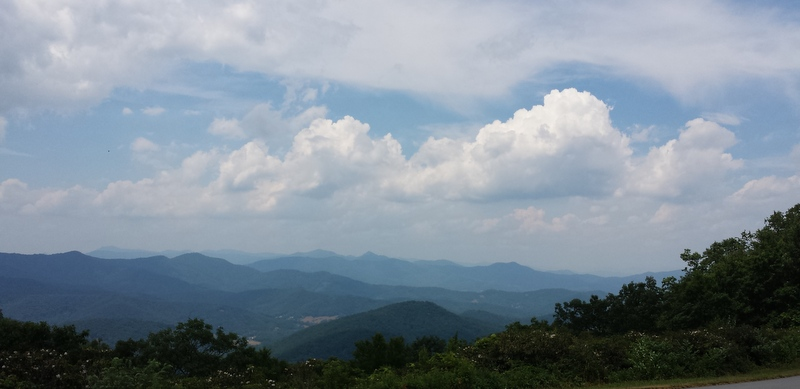 From the Blue Ridge Parkway right near our house