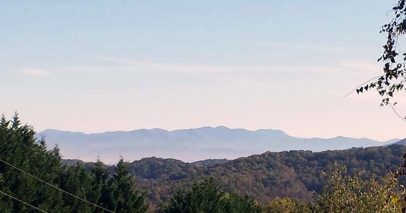 Mt. Mitchell as seen from the top of our property