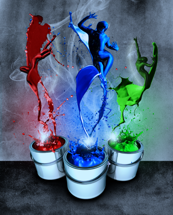 Paint Dancers by Cara Maib, Photoshop