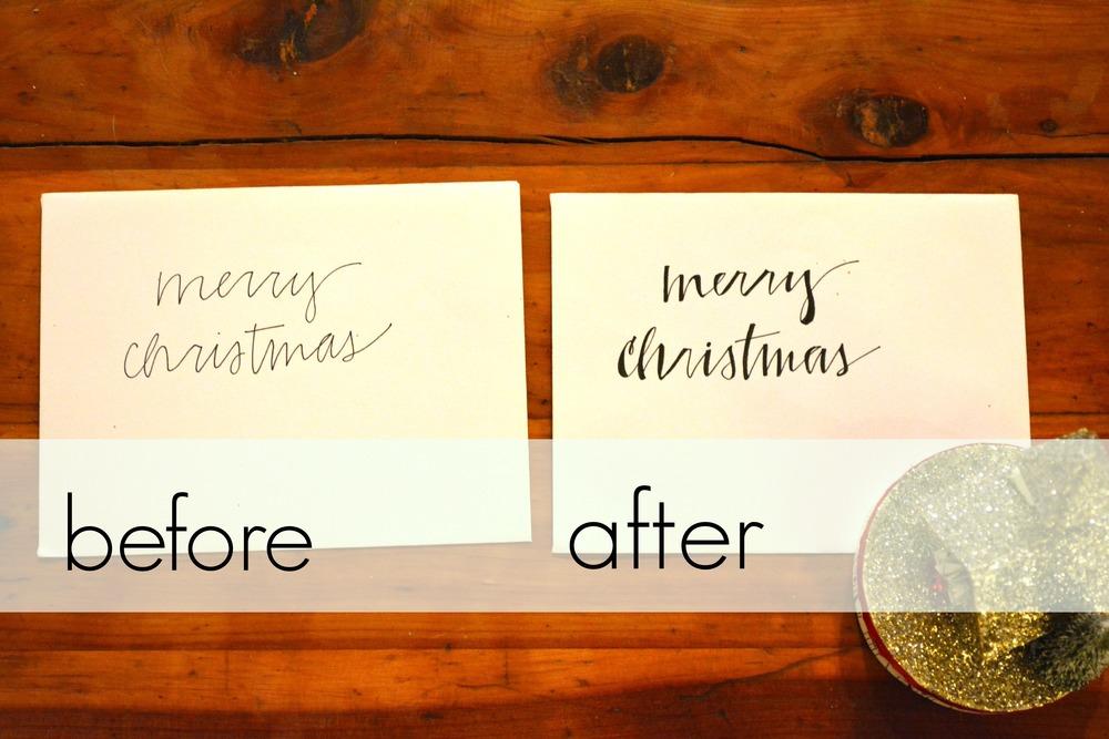 Christmas Card Calligraphy Sophisticaited