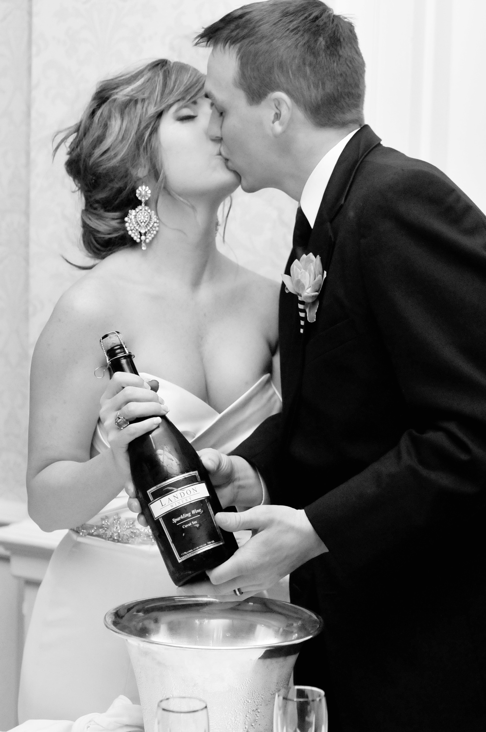 Our special wedding day champagne from Landon Winery 2011.