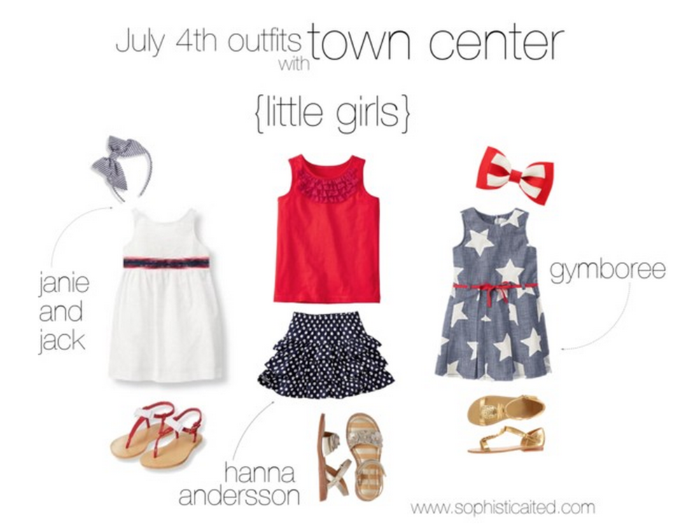 little girl outfit from the 4th of July