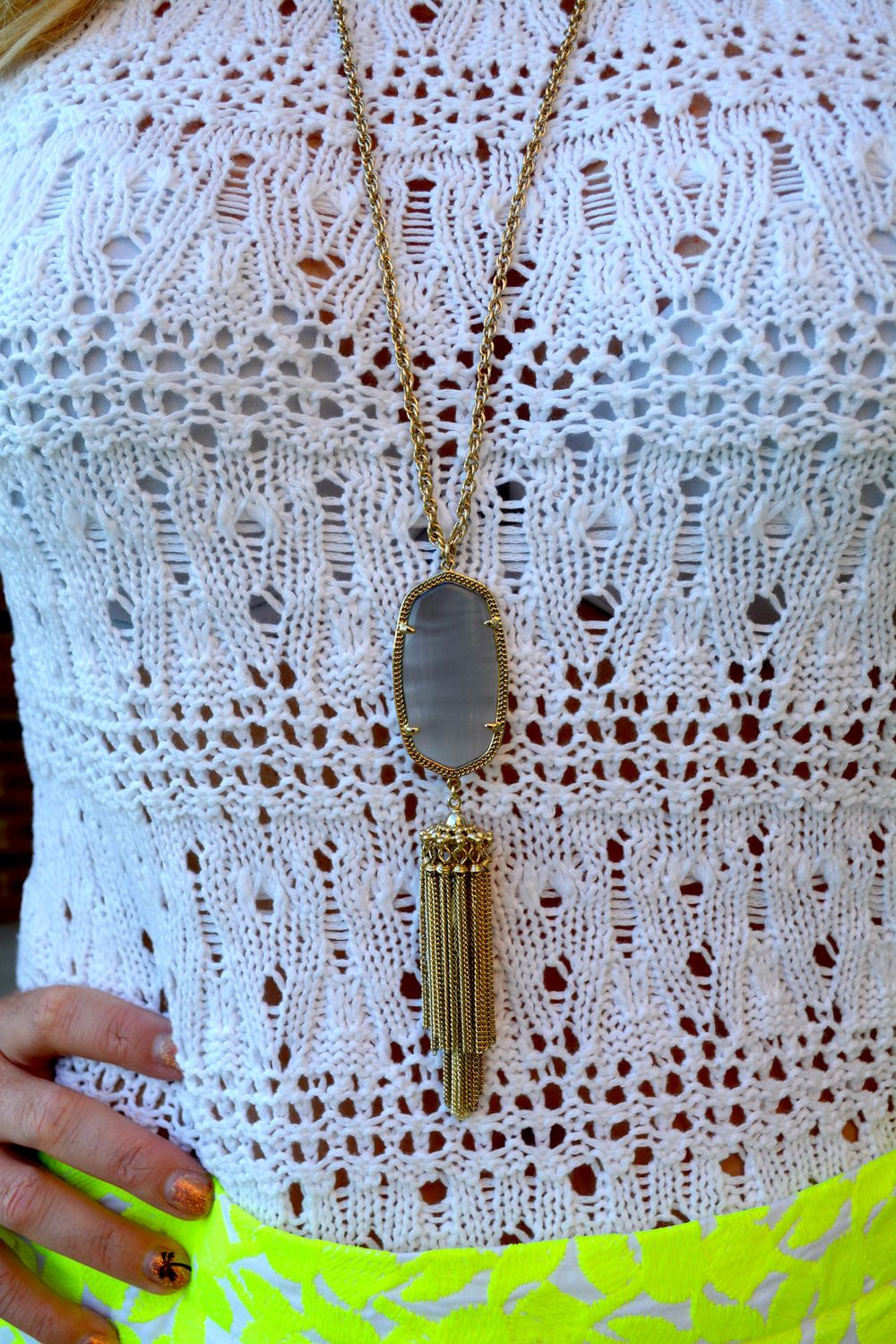 Kendra Scott 'Rayne' necklace on Sophisticaited.com