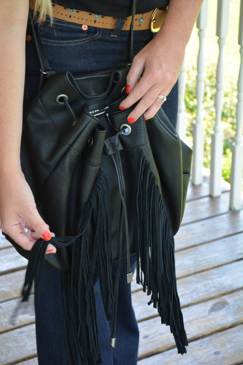 Fringe bag on Sophisticaited.com