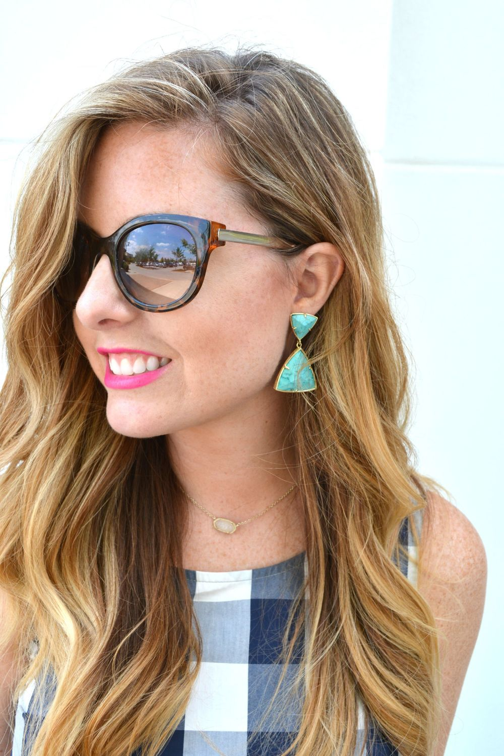 Kendra Scott turquoise earrings on Sophisticaited.com