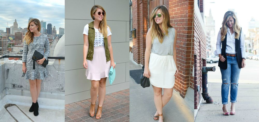 Super cute outfits on Sophisticaited by Caitlin Fore wardrobe stylist KC