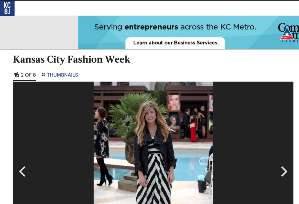 Caitlin Fore as scene in the Kansas City Business Journal