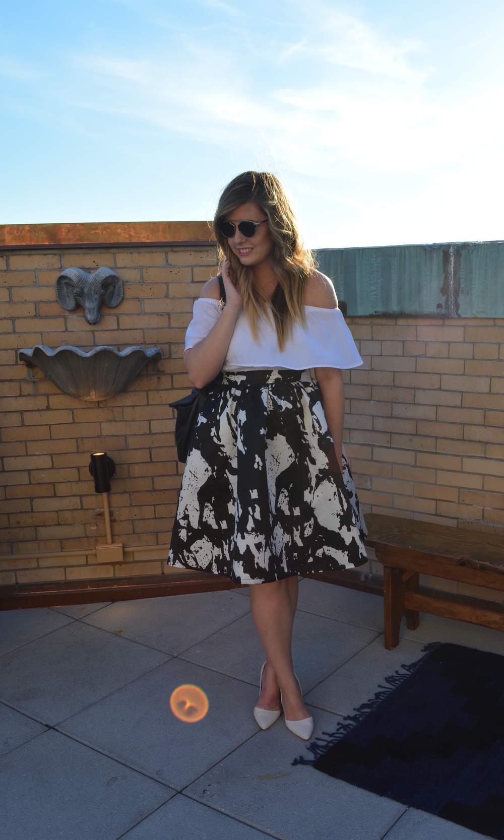 Midi skirt outfit on Sophisticaited