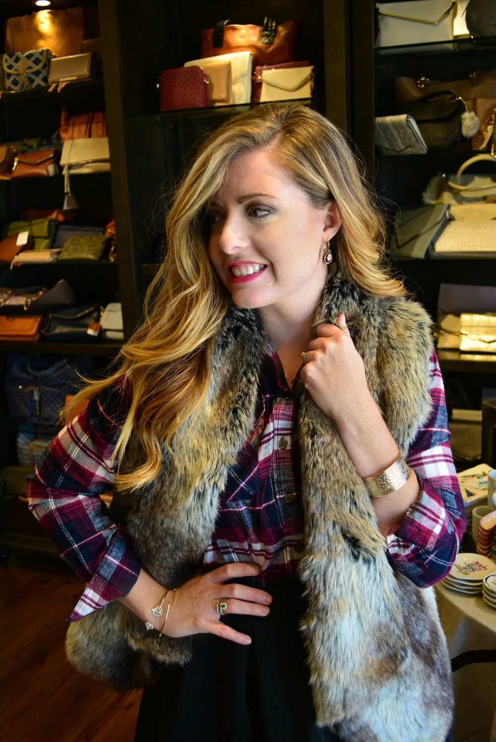 Three ways to wear a fur vest on Sophisticaited