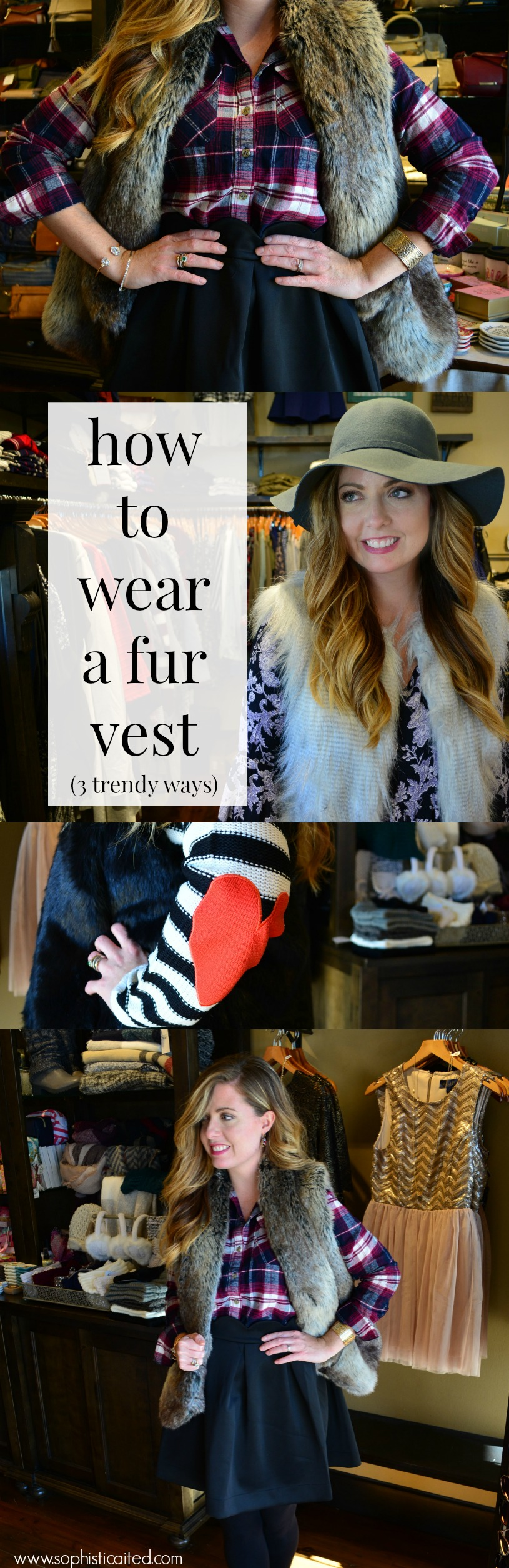 How to style fur vests on Sophisticaited