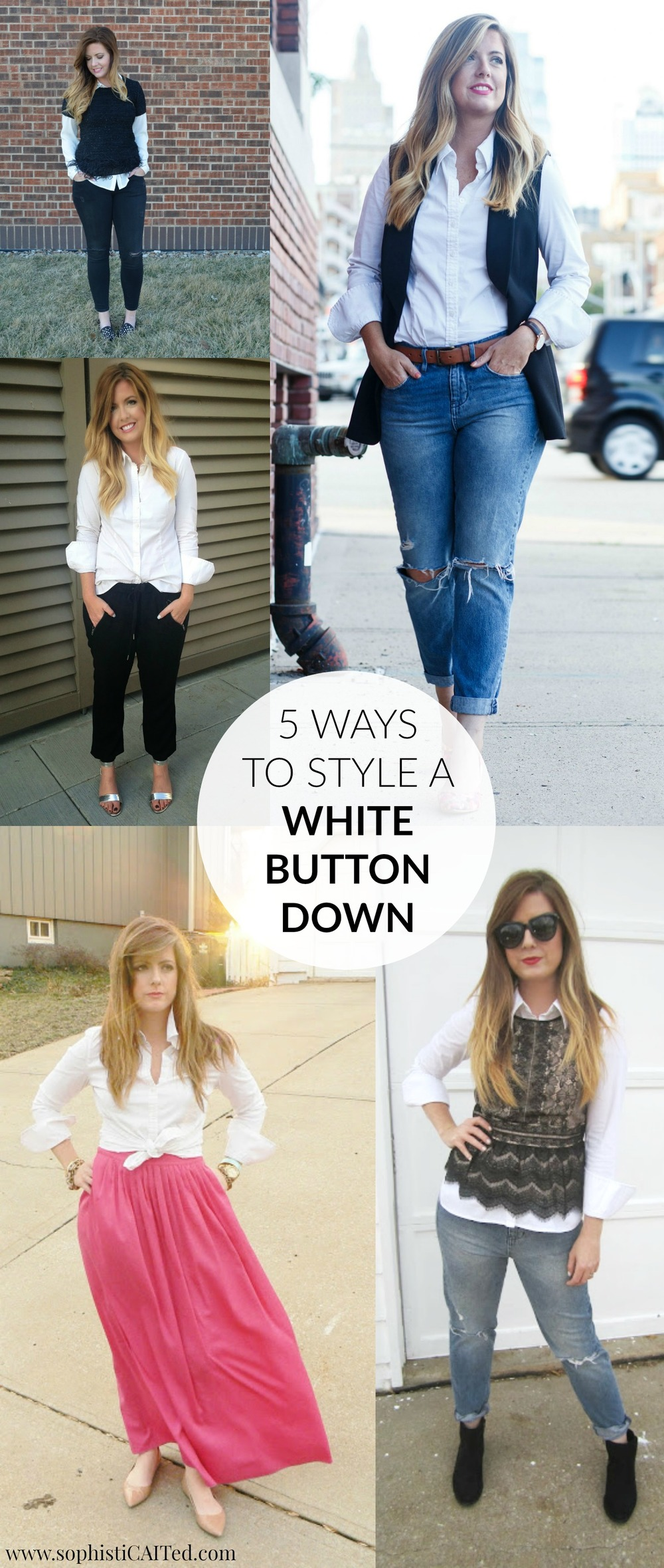 5 Ways to Style a White Button Down shirt