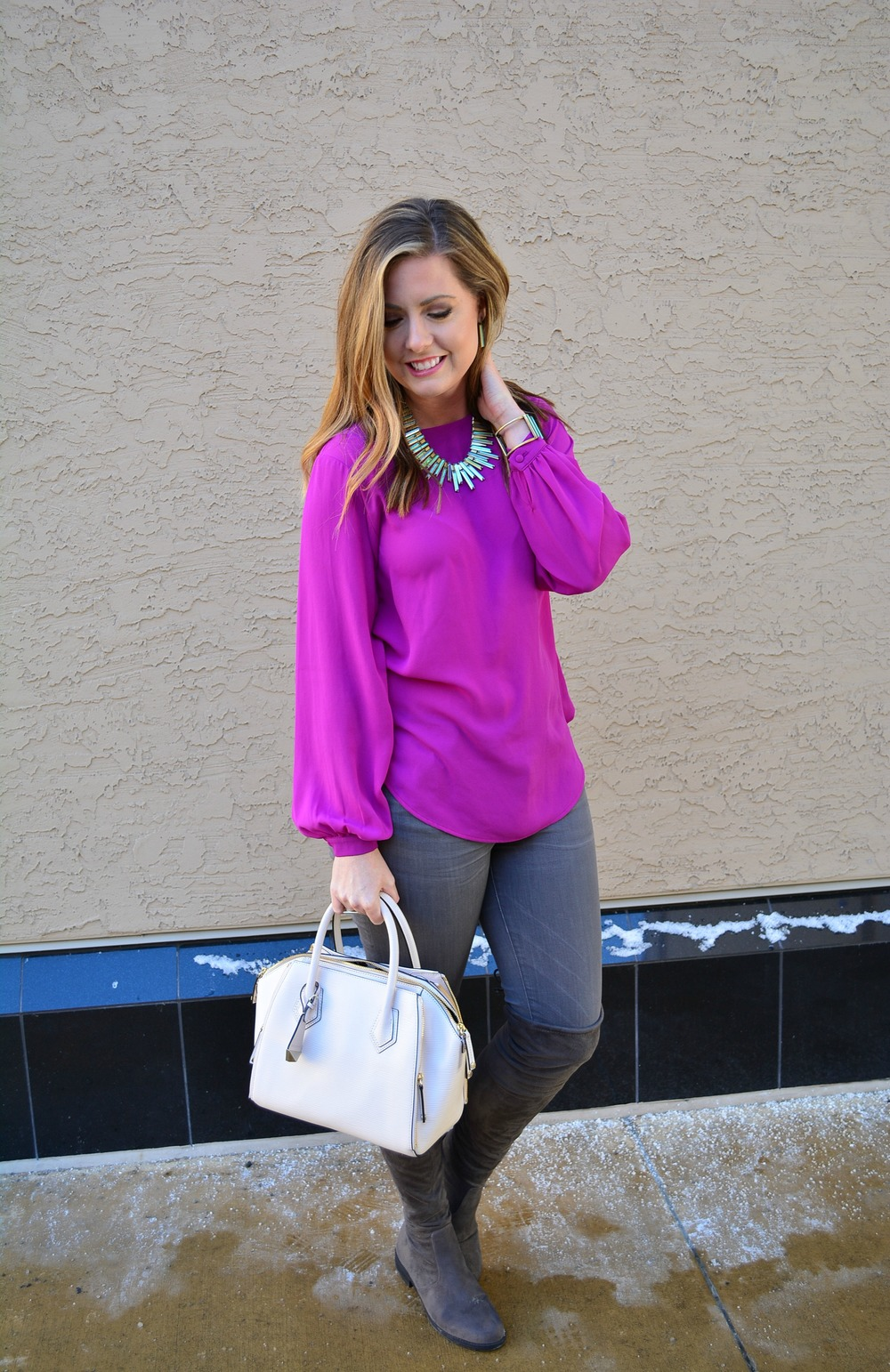 Winter look with Kendra Scott jewelry