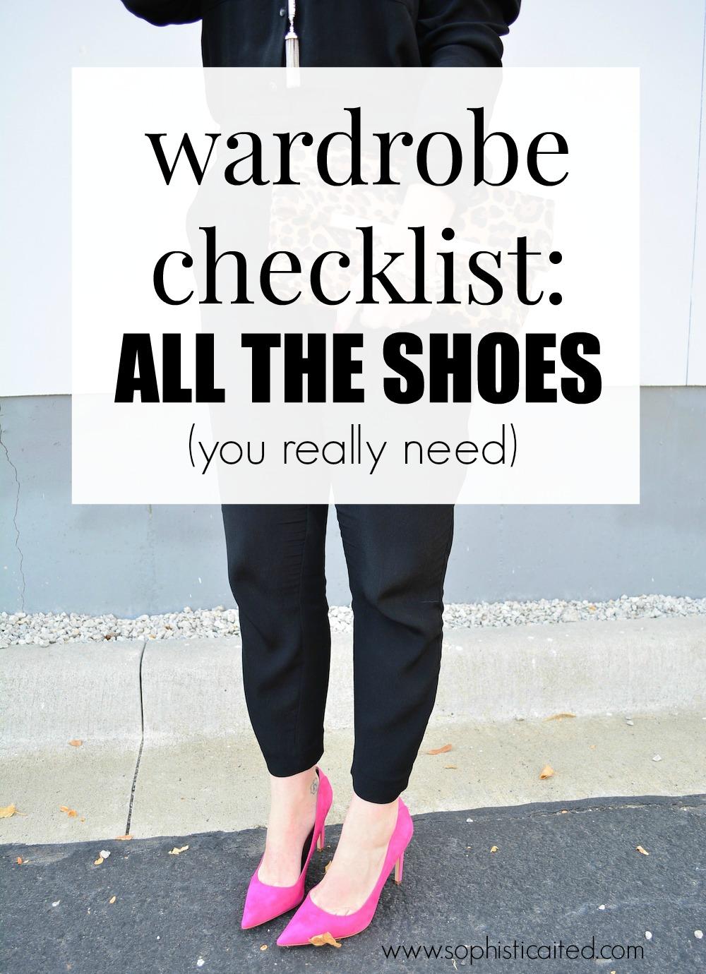 Wardrobe Checklist: SHOES